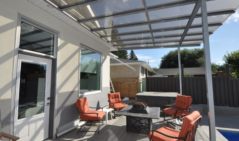 Saskatoon home products include sunrooms, patio covers, railings, screen rooms, pergolas, windows, and doors.