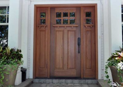 Custom all wood door built and installed locally