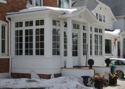 Pella windows in a conservatory in Saskatchewan