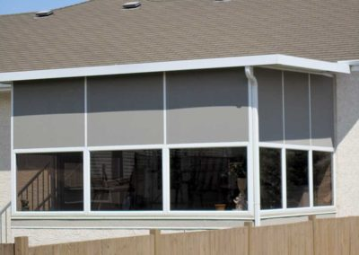 Mixed screen and sunroom installation