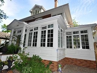 Custom designed and built pella window conservatory