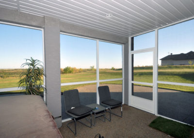 Light and bright screen room with beautiful view