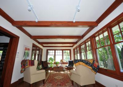 Interior view of a pella window sunroom