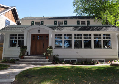 Exterior view of home with pella windows across the front