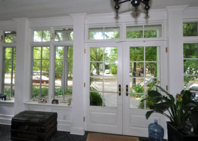 French paned windows and french doors