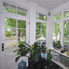 White wood frame windows in Saskatoon